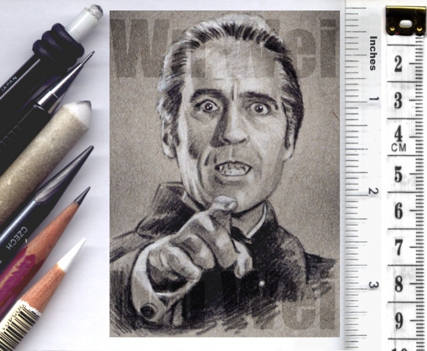Christopher Lee by wu-wei